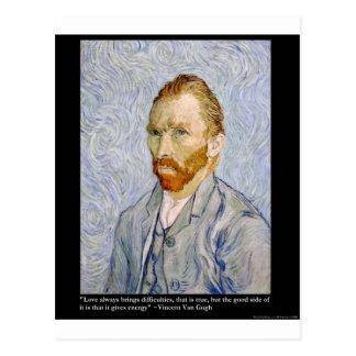 De la energía de Van Gogh coleccionable del regalo Tarjetas Postales