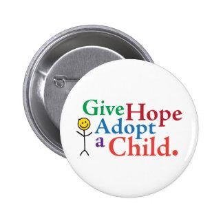 Dé la esperanza adoptan a un niño pins