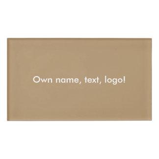 De la etiqueta oro conocido uni etiqueta con nombre