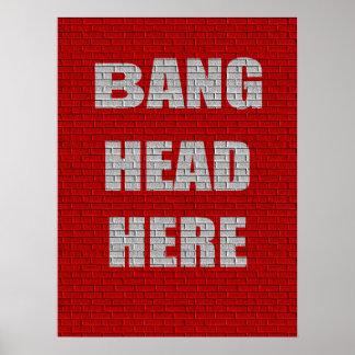 De la explosión de la cabeza humor de la oficina a póster