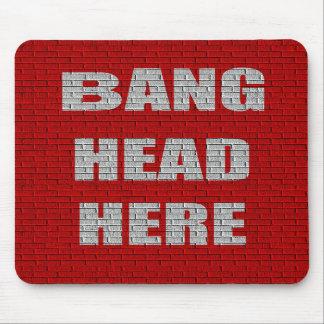 De la explosión de la cabeza regalo de la oficina  tapete de raton