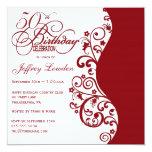 De la fiesta invitación roja y 50.a de cumpleaños