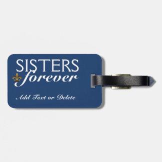 De la flor de lis de la etiqueta de las hermanas etiquetas para maletas