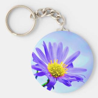 de la flor ropa púrpura no llavero redondo tipo pin