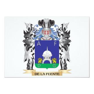 De-La-Fuente Coat of Arms - Family Crest 5x7 Paper Invitation Card