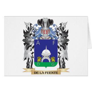 De-La-Fuente Coat of Arms - Family Crest Greeting Card