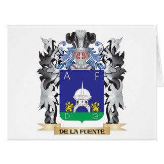 De-La-Fuente Coat of Arms - Family Crest Large Greeting Card