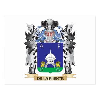 De-La-Fuente Coat of Arms - Family Crest Postcard