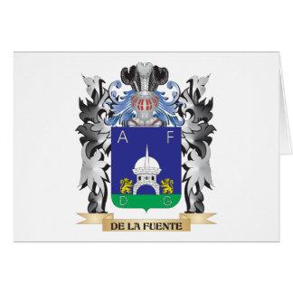 De-La-Fuente Coat of Arms - Family Crest Stationery Note Card