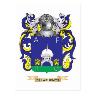 de la Fuente Coat of Arms Postcard