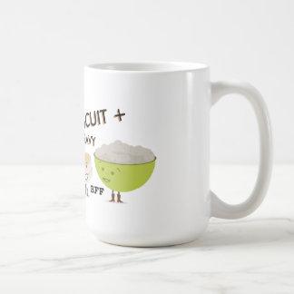 De la galleta y de la salsa de los mejores amigos tazas de café