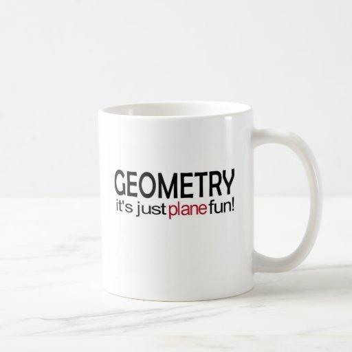 _De la geometría es apenas diversión plana Taza De Café