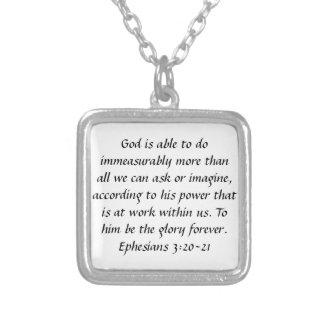De la gloria collar del verso de la biblia de Ephe
