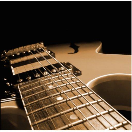 De la guitarra del cierre naranja picante eléctric imán fotoescultura