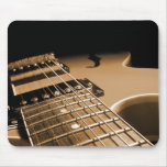 De la guitarra del cierre naranja picante eléctric alfombrillas de raton
