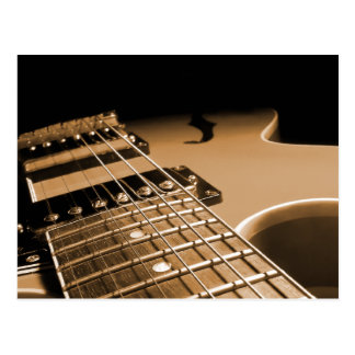 De la guitarra del cierre naranja picante eléctric tarjetas postales