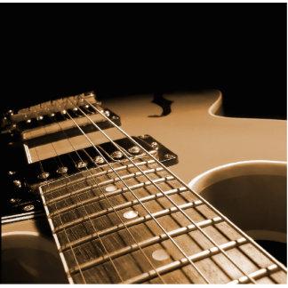 De la guitarra del cierre naranja picante imán fotoescultura