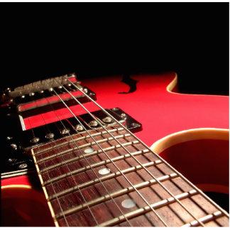 De la guitarra del cierre rojo original eléctrico esculturas fotográficas