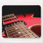 De la guitarra del cierre rojo original eléctrico  alfombrillas de raton