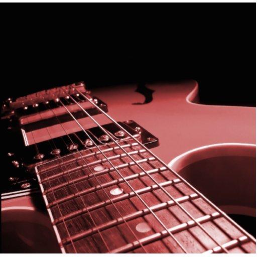 De la guitarra eléctrica del cierre rojo para arri escultura fotográfica