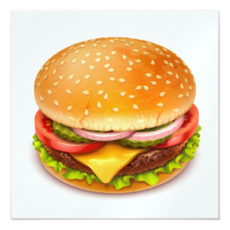 De la hamburguesa del Bbq del cocinero 4to hacia Invitación 13,3 Cm X 13,3cm