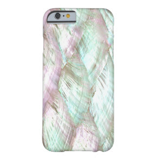 De la impresión caso rosado NACARADO del iPhone 6 Funda De iPhone 6 Barely There