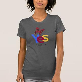 De la independencia camiseta escocesa de la fecha