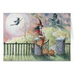 De la invitación de la tarjeta de Halloween bruja