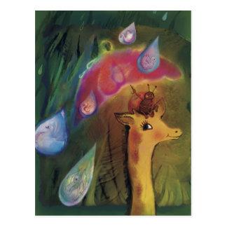 *** De la jirafa y de la mariquita Postales