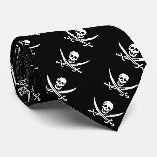 "De la ""lazo bandera del pirata de Jack del calicó"" Corbatas Personalizadas"