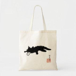 De la lengua gatito hacia fuera bolsa tela barata