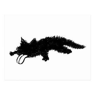 De la lengua gatito hacia fuera postal