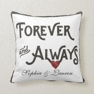 De la lesbiana corazón para siempre siempre almohada
