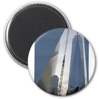De la libertad de la torre de Nueva York centro de Imán Redondo 5 Cm