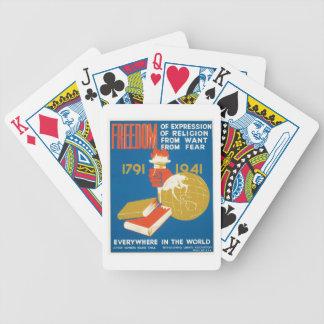 ~ de la libertad por todas partes en el mundo cartas de juego