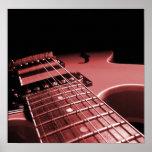 De la lona de la impresión de la guitarra eléctric poster