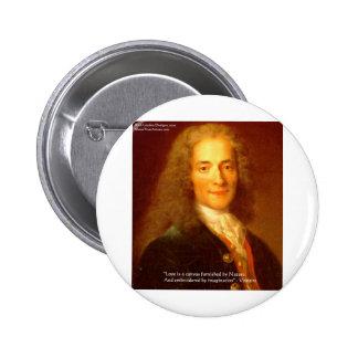 """De la lona de Voltaire el amor del """"amor/"""" junta c Pin Redondo De 2 Pulgadas"""