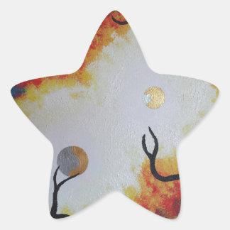 De la luz calcomanía forma de estrellae