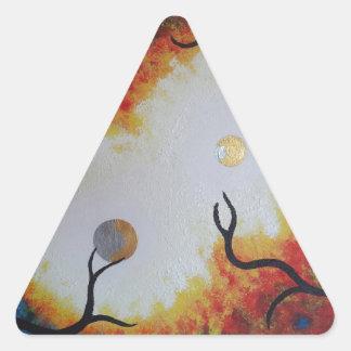 De la luz calcomanías triangulos personalizadas