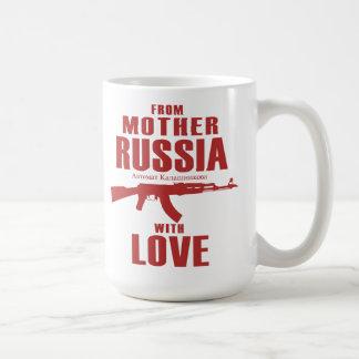 De la madre Rusia con la taza del amor AK