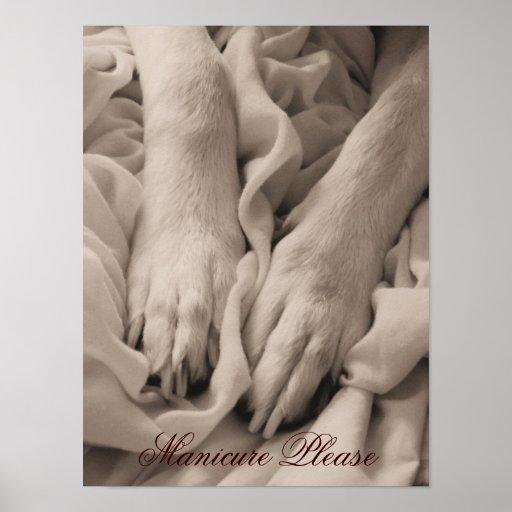 De la manicura poster/impresión del ~ por favor póster
