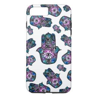 dé la mano floral exhausta de Hamsa de la acuarela Funda iPhone 7 Plus