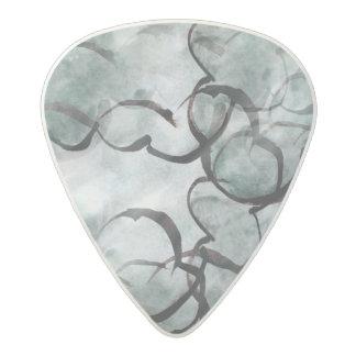 de la mano gris del arte pintura vanguardista, púa de guitarra acetal