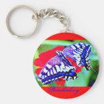 """♠ de la mariposa Swallowtail"""" ¦1Tiger Keychain1¦ """" Llavero Personalizado"""