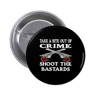 De la mordedura bastardos negros del crimen hacia  pin redondo 5 cm