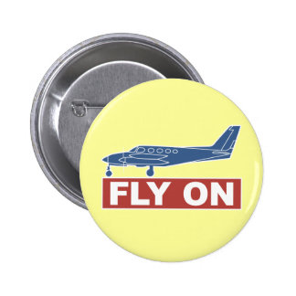 De la mosca aeroplano encendido - pins