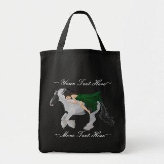 De la mujer la bolsa de asas a caballo