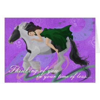 De la mujer tarjeta de condolencia a caballo