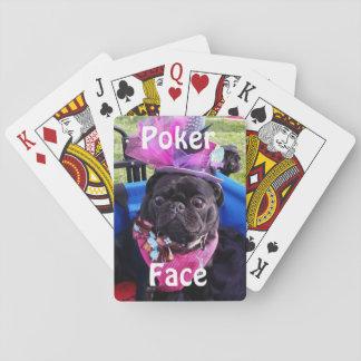 """De la """"naipes cara de póker"""" de Puggy Baraja De Póquer"""