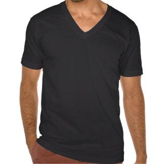 de la noche cuello en v fresco hacia fuera camiseta